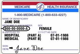 Medicare Health Insurance card for John Doe